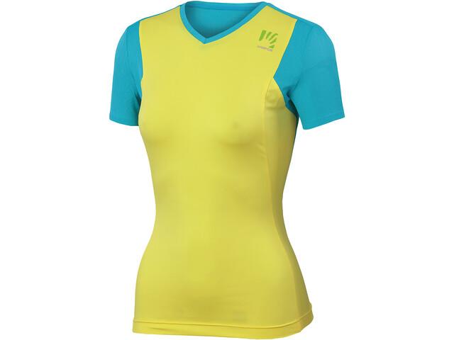 Karpos Giralba Jersey Dames, vibrant yellow/bluebird